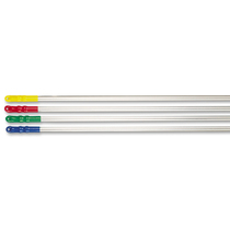 CleanWorks Aluminium Mop Handle White Hand Grip