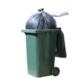 CleanWorks Wheelie Bin Liner Black 27 x 46 x 51