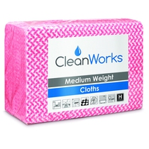 CleanWorks Medium Weight Hygiene Cloth Red