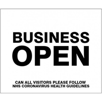Business Open Self Adhesive Sticker 300x250MM