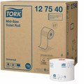 Tork Mid-Size Toilet Tissue Roll 1Ply White 130M