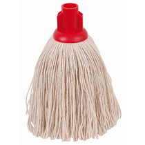 CleanWorks Twine Socket Mop Red No 14 Pack 10