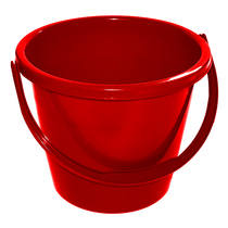 CleanWorks Plastic Bucket Red