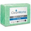 CleanWorks Medium Weight Hygiene Cloth Green