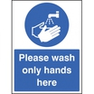 Please Wash Your Hands Self Adhesive Sticker 300x100MM