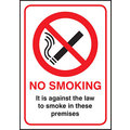 No Smoking Against The Law Sign