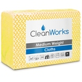 CleanWorks Medium Weight Hygiene Cloth Yellow