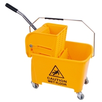 CleanWorks MicroClean 20L Bucket & Wringer Yellow