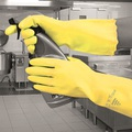 Pura Mediumweight PVC Glove Yellow EN374 Small
