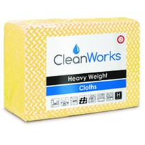CleanWorks Heavy Weight Hygiene Cloth Yellow