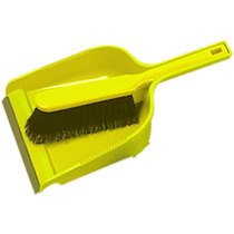 Dustpan & Brush Set Stiff Yellow