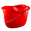 CleanWorks Plastic Mop Bucket Red