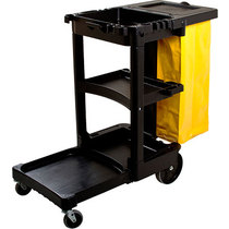 Rubbermaid 6173 Janitor Cart With Vinyl Bag
